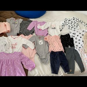 Baby girl lot clothing 14 pieces